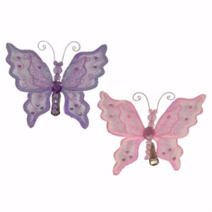 Sequin Butterfly on Spring Clip - 12.5cm