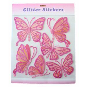 Glitter Stickers - Butterfly Set