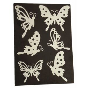Acrylic Self-Adhesive Butterfly - Set of 6