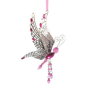 Hanging Butterfly with Metal Filigree