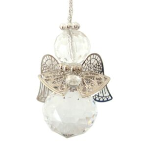 Hanging Acrylic Angels - 6cm - Clear
