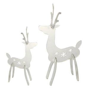 Mirror Acrylic Reindeer - Large 28cm