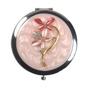 Jewelled Enamel Compact Mirror