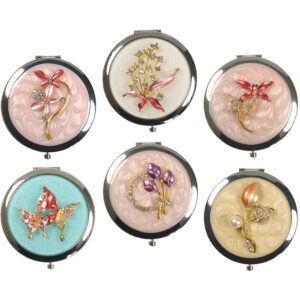 Jewelled Enamel Compact Mirror