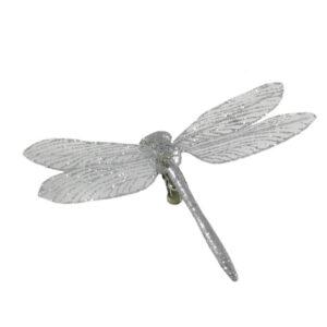 Dragonfly Clip - Foil - 10cm Silver