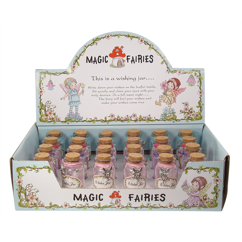 Magic Fairy Wishes Jar w/Fairy Dust & Charm