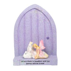 Fairy Door with Fairy & Unicorn