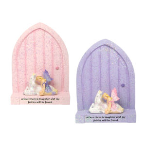 Fairy Door with Fairy & Unicorn