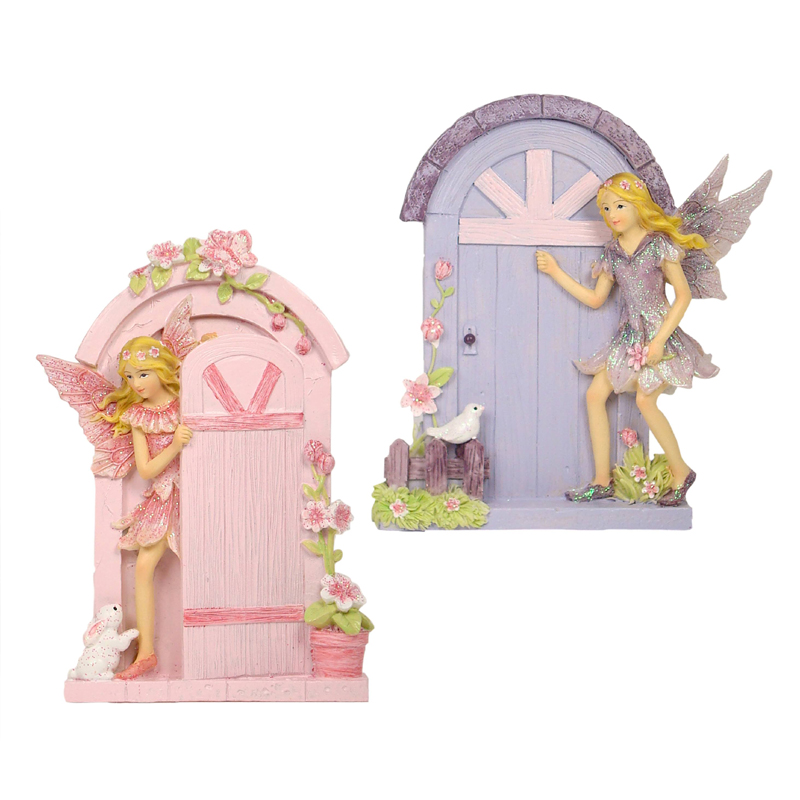 Fairy Door w/Fairy - 2 Designs Assorted - ETA 5/9/17