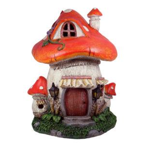 Solar Mushroom Fairy House - 26cm