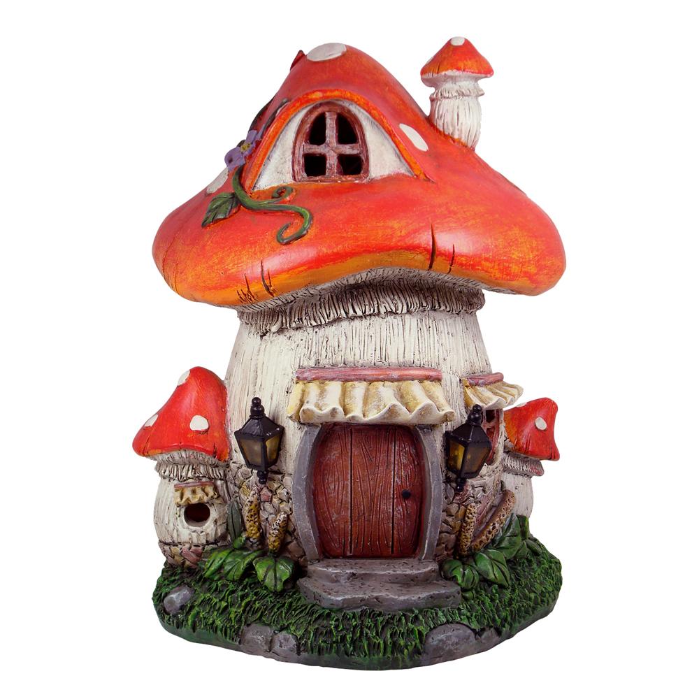 Solar Mushroom Fairy House 26cm Jopaz