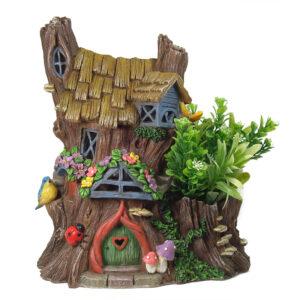 Solar Fairy House with Plant - 31cm