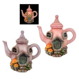 LED Teapot Fairy House - 17.5cm