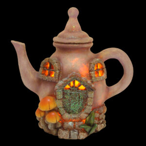 LED Teapot Fairy House - 17.5cm