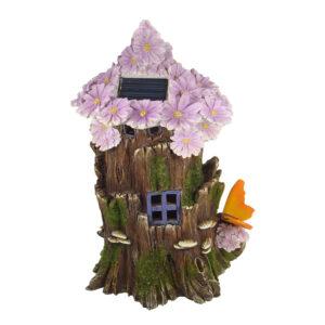 Solar Fairy Flower House 28cm - Purple