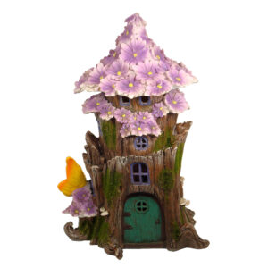 Solar Fairy Flower House 28cm - Purple