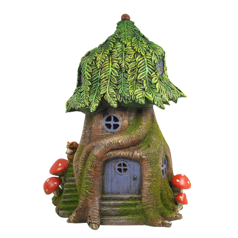Solar Fairy Tree House 25cm