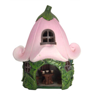 Solar Fairy Flower House w/Furniture