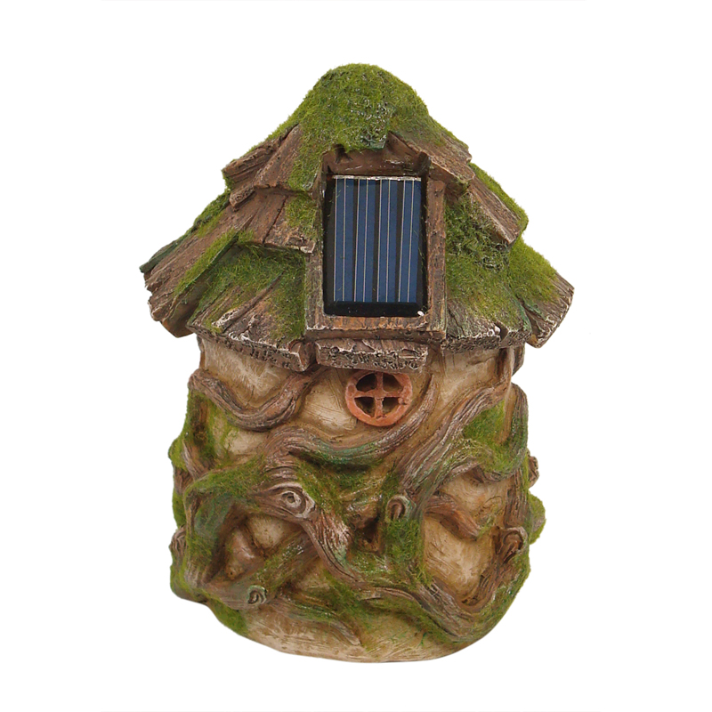 Solar Woodland Fairy House 15cm