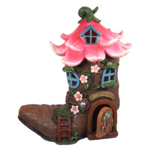 LED Flower Boot House w/Opening Door - ETA 3/10/17