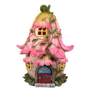 LED Flower Fairy House w/Opening Door - ETA 3/10/17