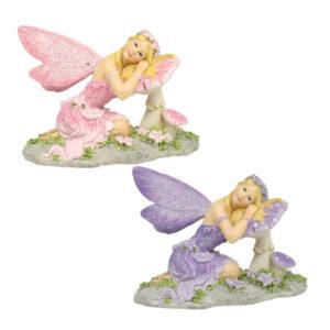 Fairy on Mushroom - 13cm