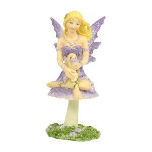 Fairy on Mushroom - 10cm
