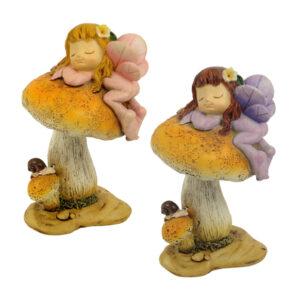 Woodland Fairy on Mushroom