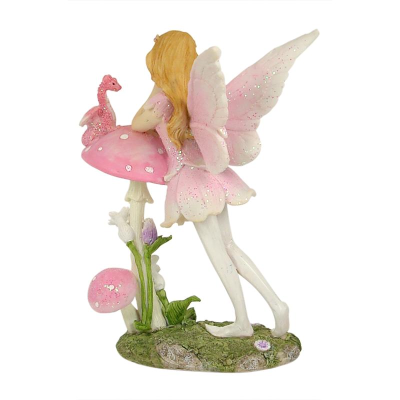 Standing Fairy w/Mushroom & Dragon 16.5cm - ETA 5/9/17