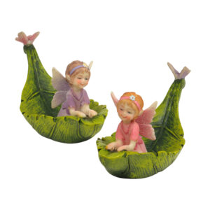 Magic Fairy in Leaf Boat - 14cmL