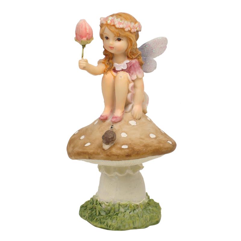 Flower Garden Fairy on Mushroom - 3 Assorted - ETA 7/11/17
