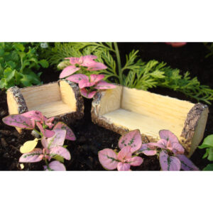 Fairy Garden Furniture - Log Chair