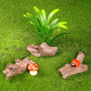 Mini Garden Logs - 3 Assorted
