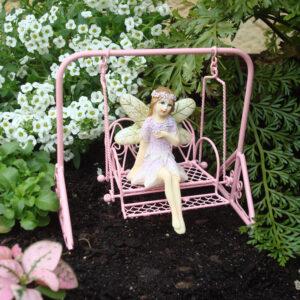 Fairy Garden Furniture - Metal Swing