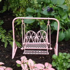 Fairy Garden Furniture - Metal Swing