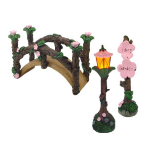Fairy Garden Bridge - Set of 3 - With LED Light