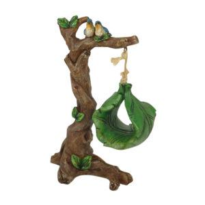 Tree Swing w/Birds 16cm