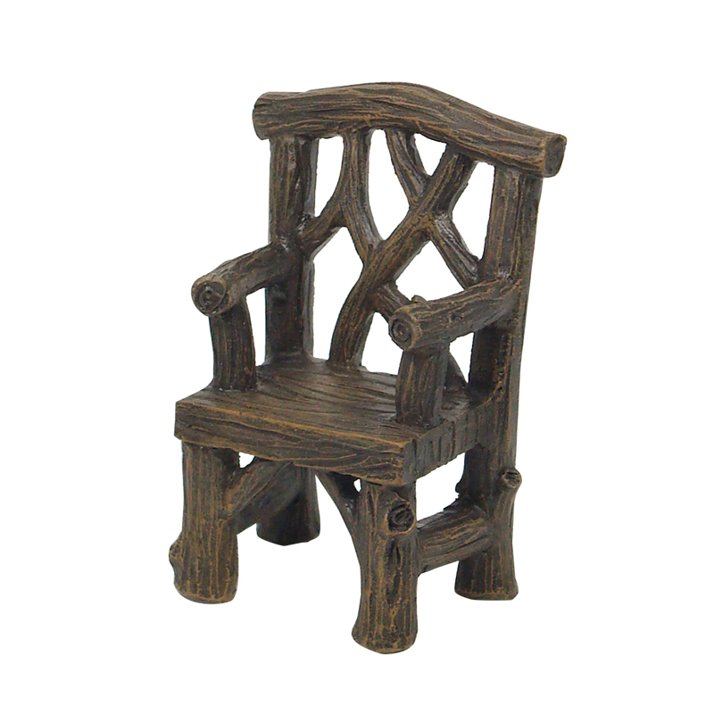 Rustic Log Arm Chair 7.5cm - ETA 3/10/15