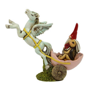 Garden Gnome with Pegasus