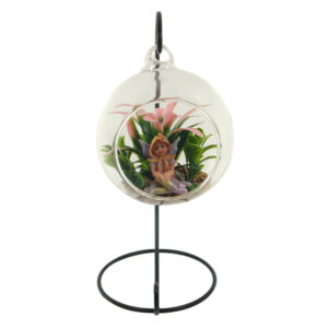 Glass Terrarium 10cm with Stand - Enchanted Garden Fairy - ETA 12/9/17