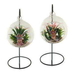 Glass Terrarium 10cm with Stand - Enchanted Garden Fairy - ETA 12/9/17