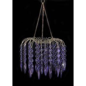 Chandelier - Acrylic Fountain - Purple
