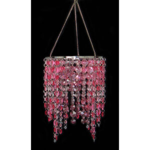 Chandelier - Acrylic Cascading - Pink