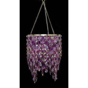 Chandelier - Acrylic Cascading - Purple