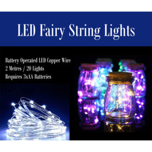 LED Fairy String Lights - 2 Metres / 20 Lights