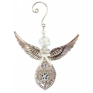 Hanging Acrylic Angel with Metal Filigree