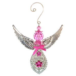 Hanging Acrylic Angel with Metal Filigree