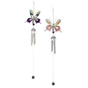 Chime - Butterfly - Metal & Epoxy Resin - 66cm