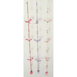 Mobile - Glitter Dragonfly Ribbon - Light Pink & Purple Assorted