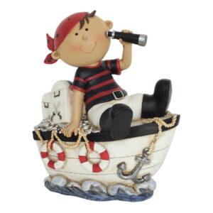Pirate Money Bank - Pirate with Ship